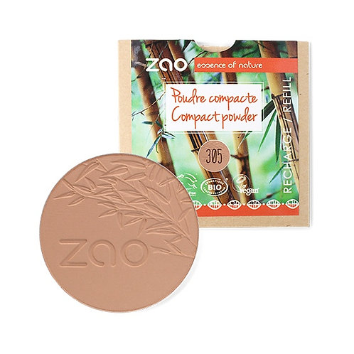 Zao Compact Powder Refill - Milk Chocolate (305)
