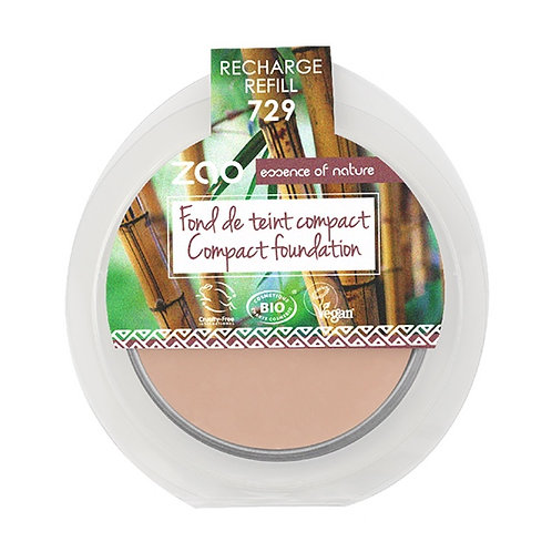 Zao Compact Foundation Refill - Very Light Pink Ivory (729)
