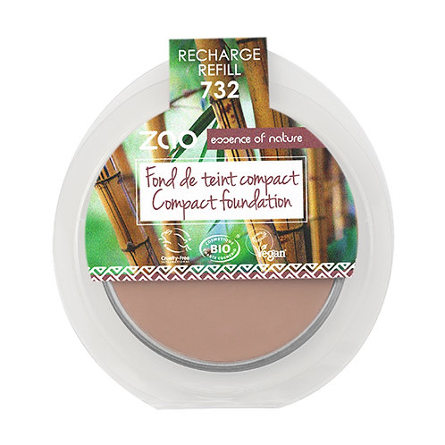 ZAO Compact Foundation Refill - Rose Petal (732)