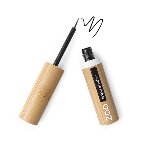 Zao Refillable Liquid Eyeliner - Black Intense (070)