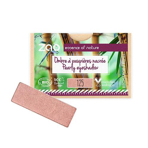 Zao Rectangular Eyeshadow Refills - Pearly Sunshine Pink 125