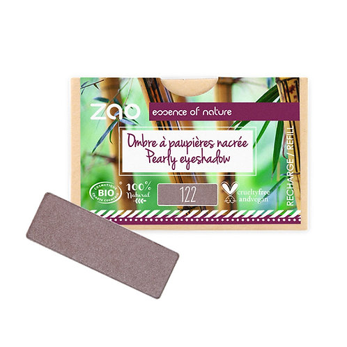 Zao Rectangular Eyeshadow Refills - Pearly Desert Rose 122