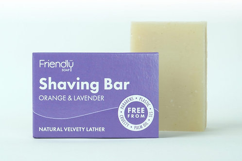 Friendly Soap Shaving Bar - Orange & Lavendar