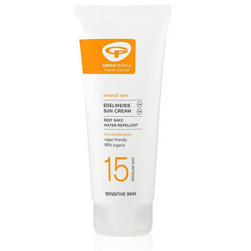 Green People Sun Lotion with Tan Accelerator SPF 15 200ml