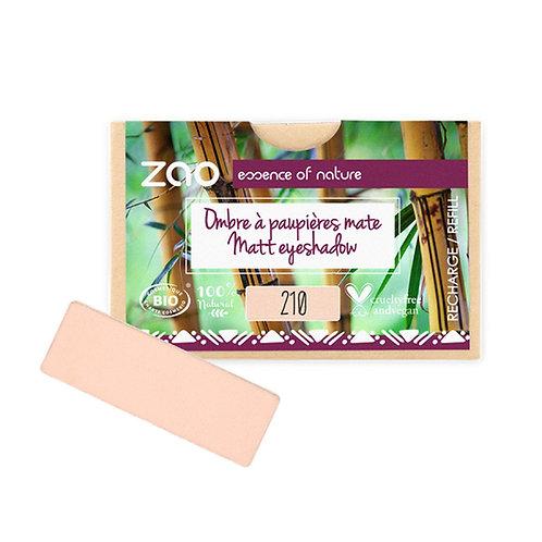 Zao Rectangular Eyeshadow Refills - Matt Peachy Pink 210