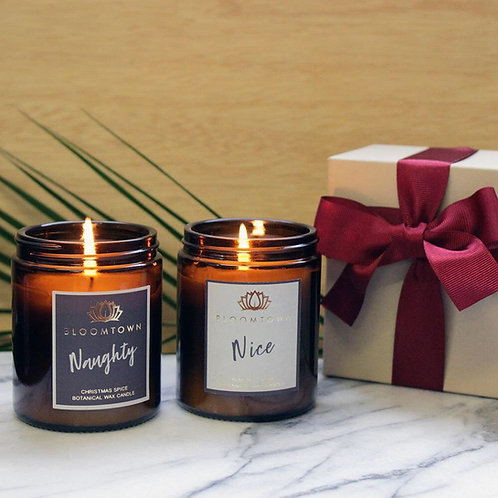 Naughty & Nice Christmas Candle Duo