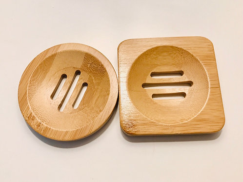 Bamboo Soap Dish - Round or Square