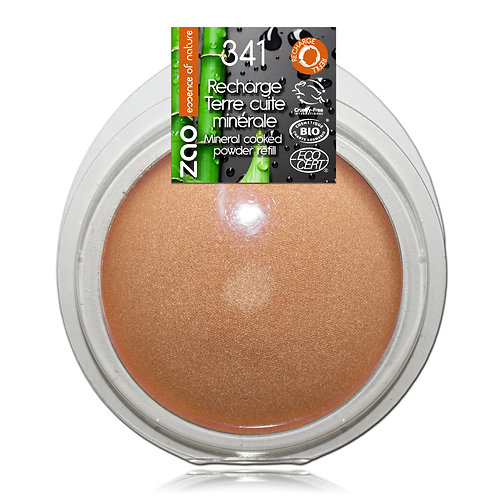 Refill - Zao Mineral Cooked Powder - Golden Copper 341