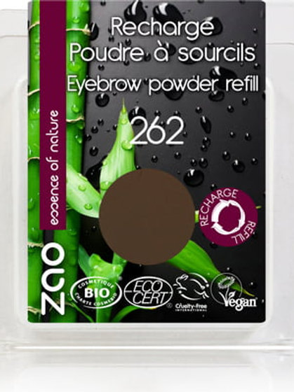 Zao Eyebrow Powder Refill - Brown (262)