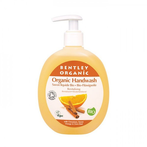 Bentley Organic Revitalising Handwash with Cinnamon, Sweet Orange and Clove Bud