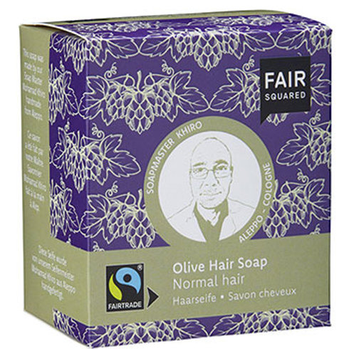 Fair Squared Olive Hair Soap - 2 x 80g - For Normal Hair