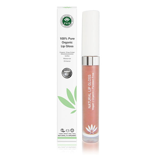 PHB 100% Pure Organic Lip Gloss - Petal