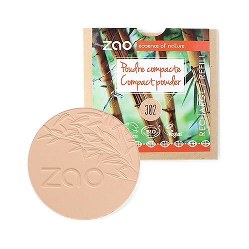 Zao Compact Powder Refill - Beige Orange (302)