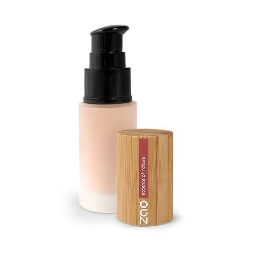 Zao Silk Foundation Refillable Pump Dispenser - Light Peach (710)