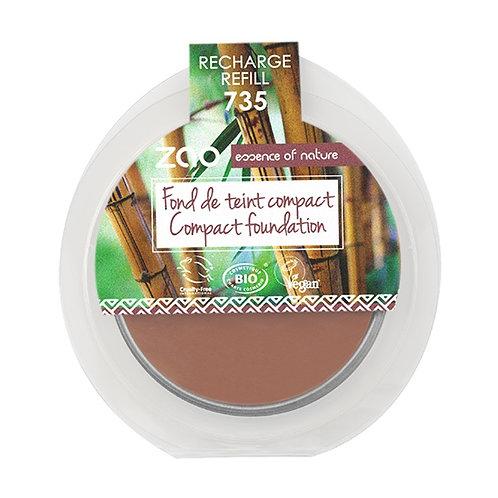 ZAO Compact Foundation Refill - Chocolate (735)