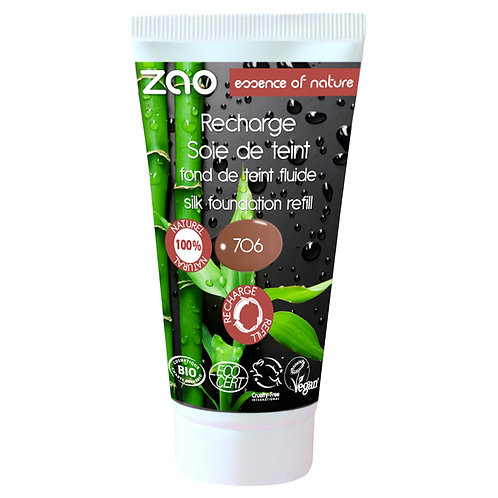 Refill - Zao Silk Foundation - Chocolate (706)