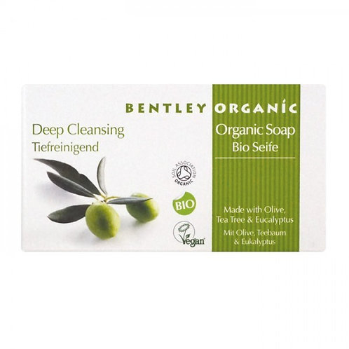 Bentley Organic Deep Cleansing Soap Bar with Olive, Tea Tree and Eucalyptus 150g