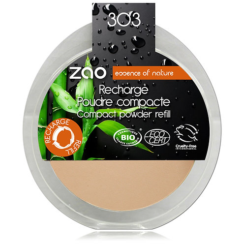 Zao Compact Powder Refill - Brown Beige 303