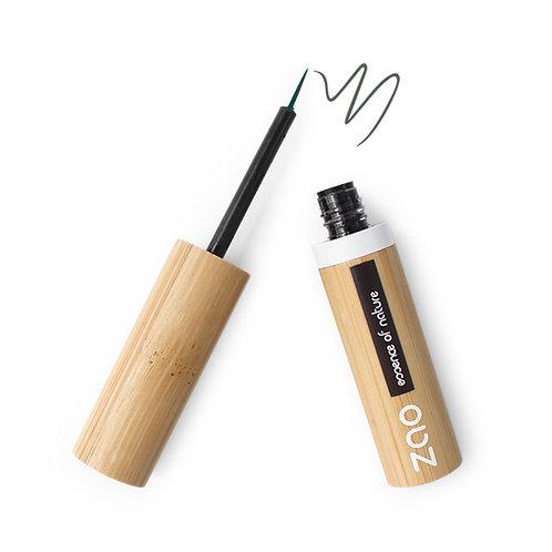 Zao Refillable Liquid Eyeliner - Khaki Green (075)