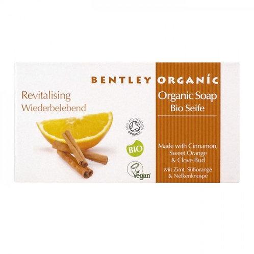 Bentley Organic Revitalising Soap Bar with Cinnamon, Sweet Orange & Clove Bud