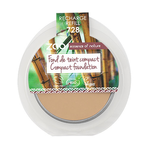 Zao Compact Foundation Refill - Very Light Ochre (728)