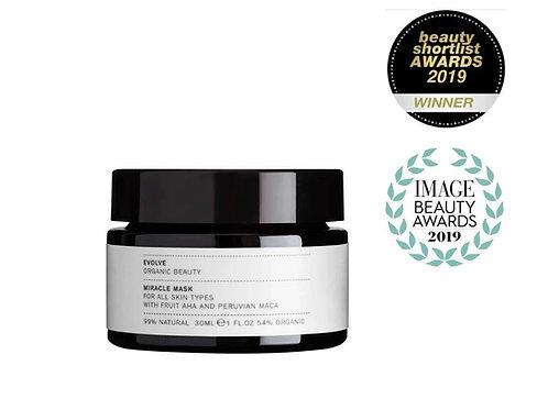Evolve Radiant Miracle Organic Face Mask - Travel Size 30ml