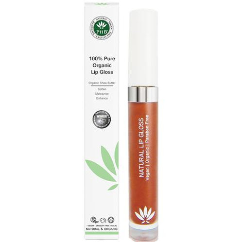 PHB 100% Pure Organic Lip Gloss - Sienna