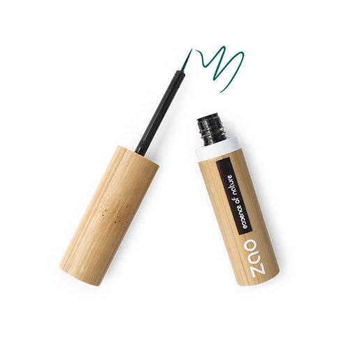 Zao Refillable Liquid Eyeliner - Emerald Green (073)