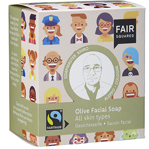 Fair Squared Olive Facial Soap - All Skin Types - 2 x 80g