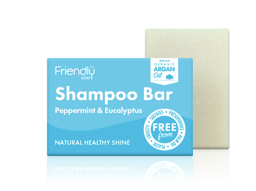 Friendly Soap Shampoo Bar - Peppermint & Eucalyptus