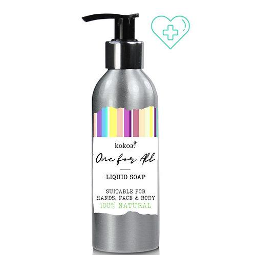 Kokoa One For All: Hand, Face & Body Liquid Black Soap 150ml
