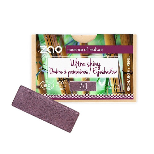 Zao Rectangular Eyeshadow Refills - Ultra Pearly Purple Rain 273