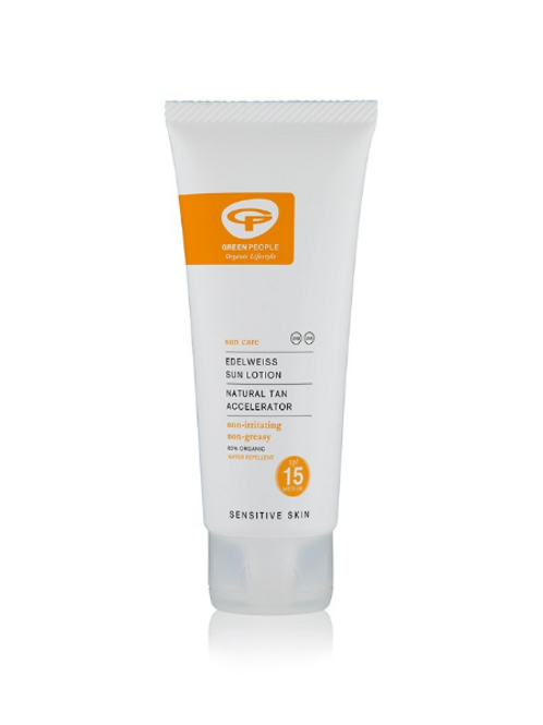 Green People Sun Lotion with Tan Accelerator SPF 15 100ml Travel Size