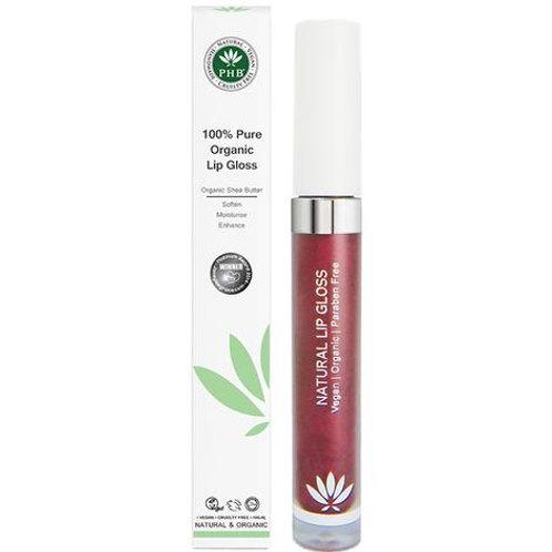 PHB 100% Pure Organic Lip Gloss - Plum