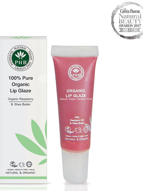 PHB Ethical 100% Pure Organic Lip Glaze - Raspberry