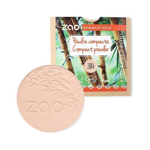 Zao Compact Powder Refill - Cappucino (304)