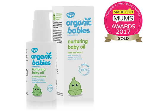 Green People Organic Babies Nurturing Baby Oil - Scent Free 100ml