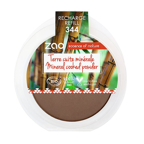 Zao Mineral Cooked Powder Refill - Chocolate (344)
