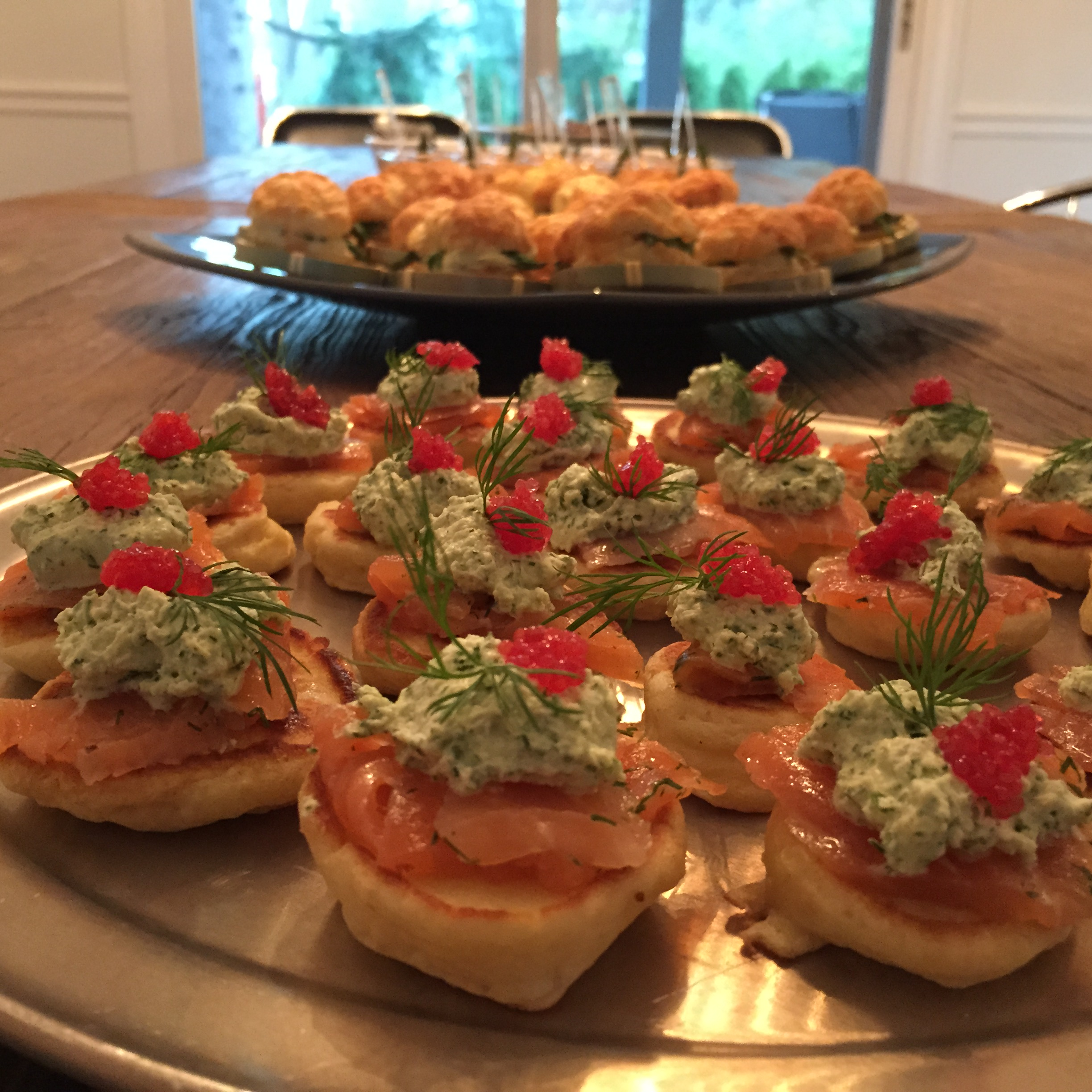 Creamy Dill and Salmon Blinis