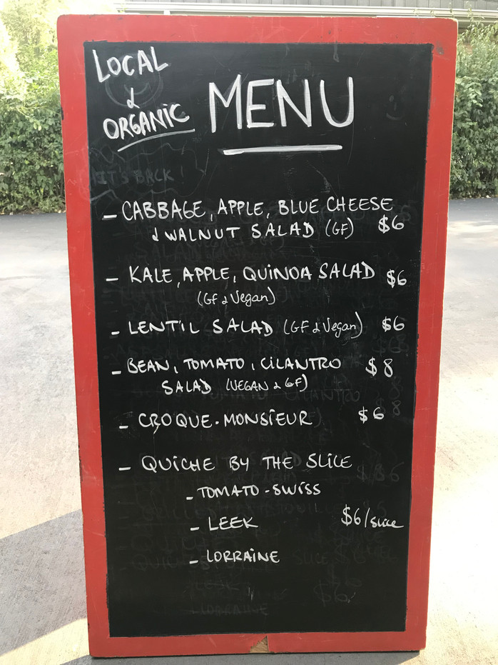 To-Go Menu for Montgomery and Hyde Park Farmers Markets this Weekend! - Saturday September 28th and