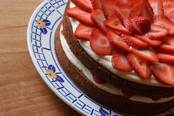 Strawberry Mascarpone Layer Cake