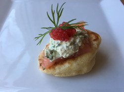Creamy Dill and Salmon Blini