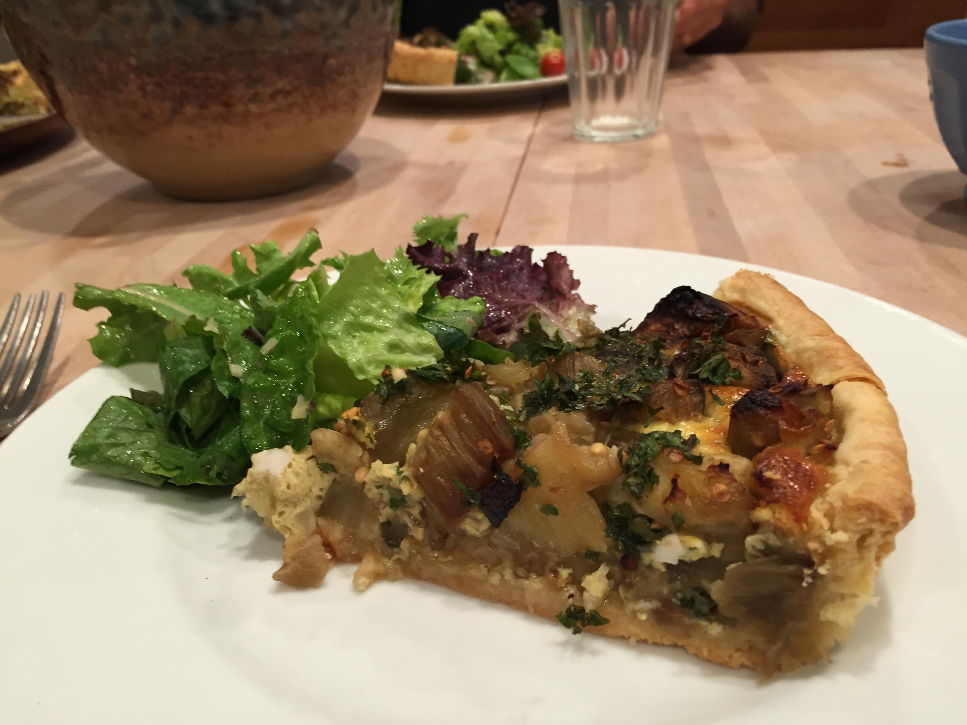 Eggplant Savory Tart