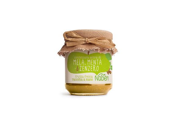 Confettura Extra di Mela, Menta & Zenzero Naben 212g