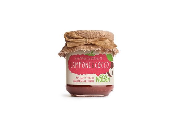 Confettura Extra di Lampone&Cocco Naben 212g