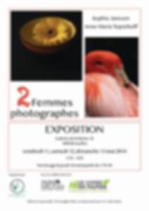 Affiche de l'exposition 2 Femmes photographes, mai 2018