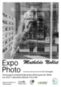 Affiche de l'exposition Mathilde Noblet, décembre 2016