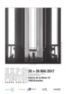 Affiche de l'exposition Cadre choisi, INRACI, mai 2017