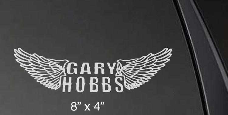 Gary Hobbs Wings Decal