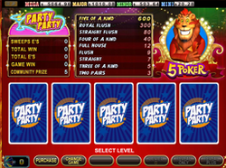 Party Pary 5 Card Poker